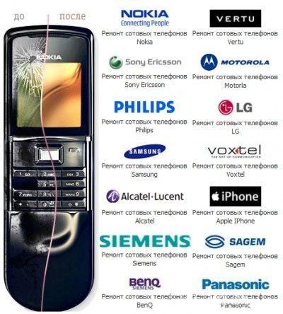 Ремонт мобильных телефонов в Туле